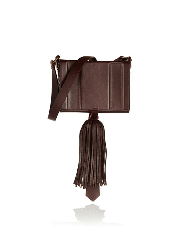 Zeus + Dione Attiki Tasseled Leather Shoulder Bag