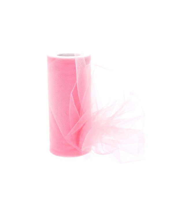 "HairBow Center  6"" Premium Tulle Neon Pink"