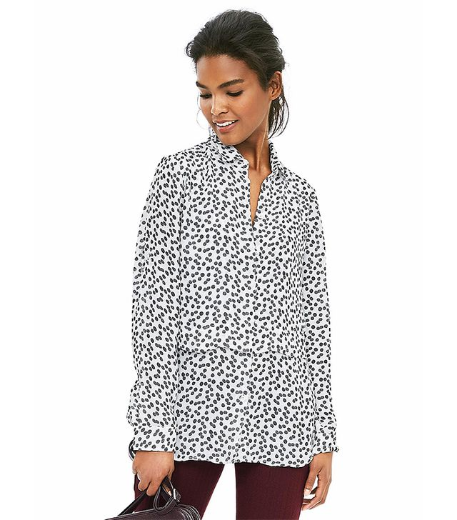 Banana Republic Painterly Dot Blouse