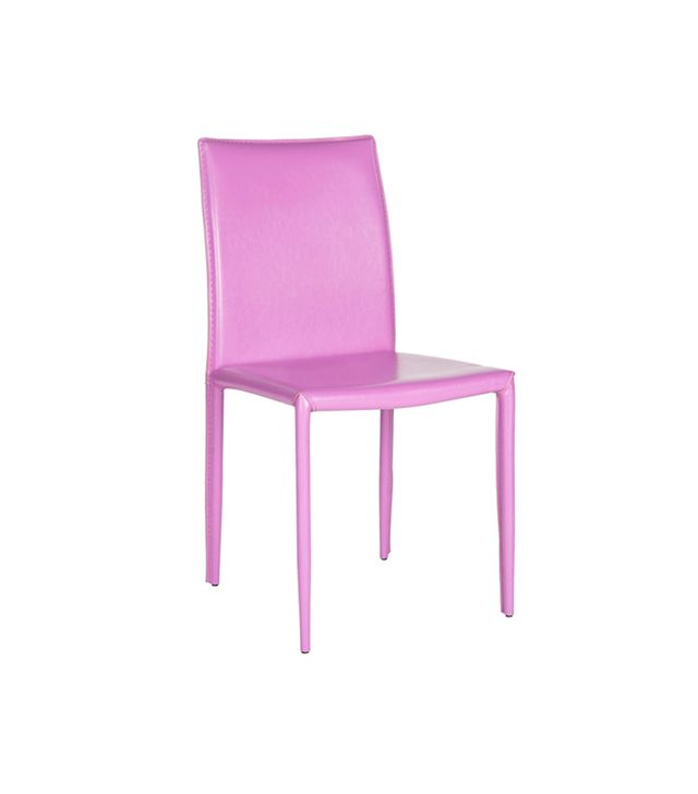 One Kings Lane Purple Leather Caldwell Chairs