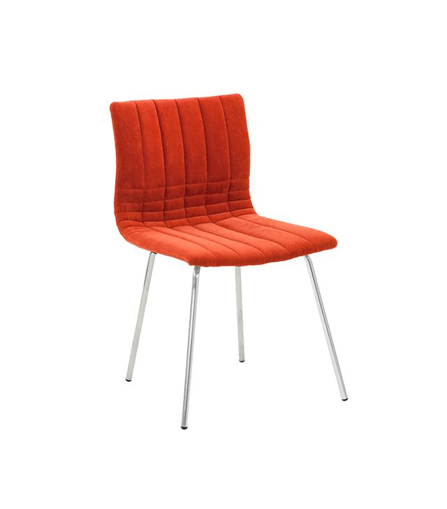 Saloom Cube Hand-Stitched Side Chair, Pepper