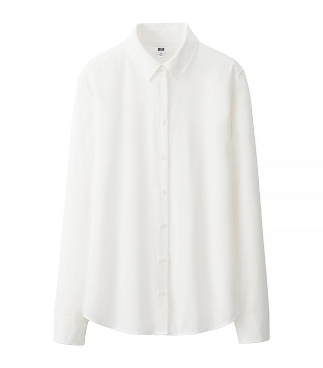 Uniqlo Rayon Long-Sleeved Blouse