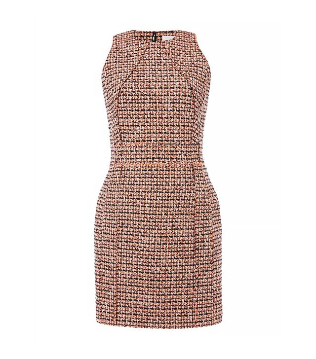 Victoria Beckham Sleeveless Neon Tweed Dress