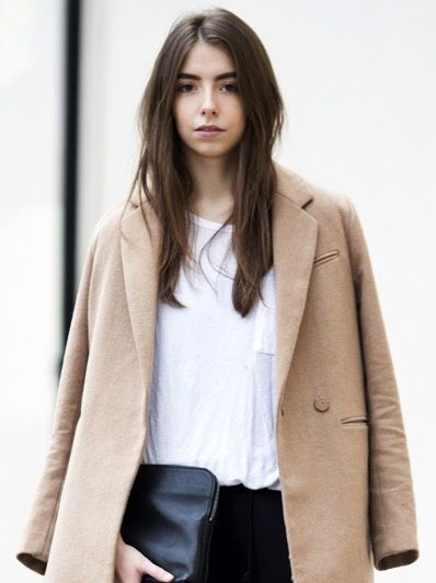 See This British Blogger's Minimalist Take on the Camel Coat