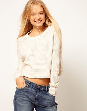 ASOS Cropped Rib Detail Sweater