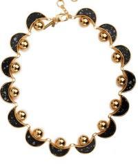 Lele Sadoughi  Lele Sadoughi Moon & Sun Necklace