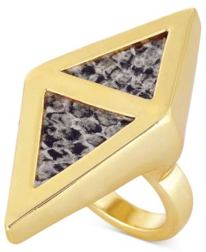 Roman Luxe Python Enamel Kite Cocktail Ring