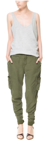 Zara Cargo Trousers With Pockets
