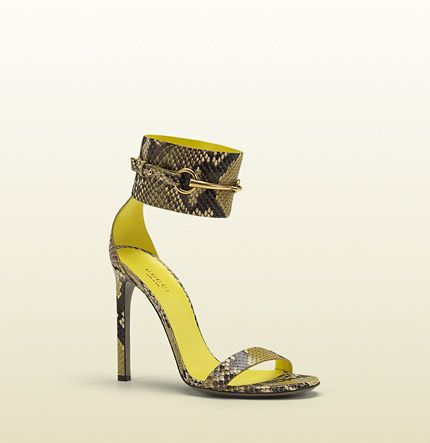 Gucci Ursula Ankle-Strap High Heel Sandals