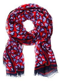 Juicy Couture Juicy Couture Darling Heart Silk Oblong Scarf