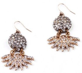 Lulu Frost Lulu Frost Sunburst Pave Drop Earrings