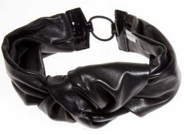 Jennifer Behr Jennifer Behr Large Knotted Leather Headwrap