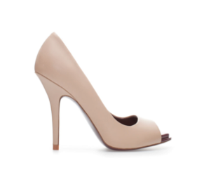 Zara Platform Peep-Toe Heels