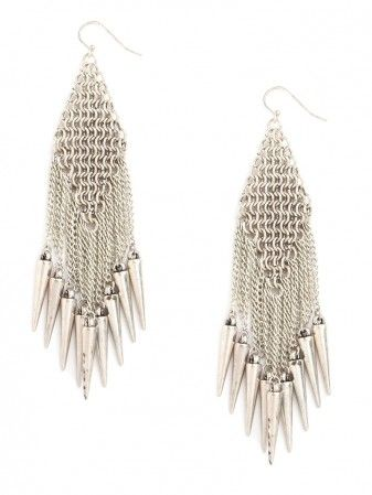 Baublebar  Silver Mesh Cascade Earrings