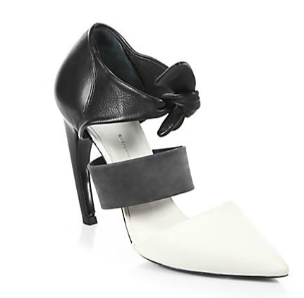 Proenza Schouler Leather Tie-Up Pumps