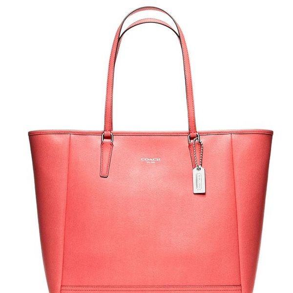 Saffiano Leather Medium North/South Tote Coach