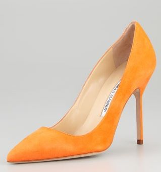 Manolo Blahnik BB Suede High-Heel Pump