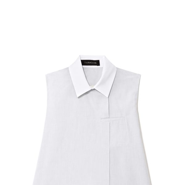 Thakoon Sleeveless Cotton Shirt With White Collar