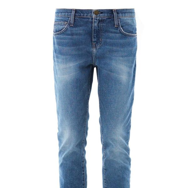 Current/Elliott The Slouchy Stiletto Mid-Rise Relaxed-Skinny Jeans
