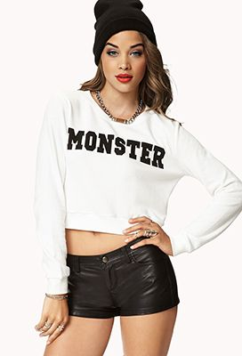 Forever 21  Monster Cropped Pullover