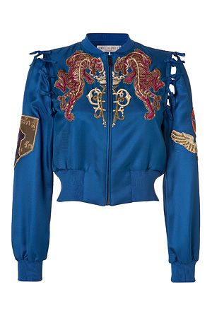 Emilio Pucci  Embroidered Silk Bomber Jacket