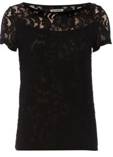 Dorothy Perkins  Black Lace Tee