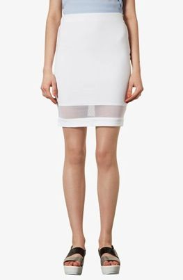 Topshop  Mesh Panel Pencil Skirt