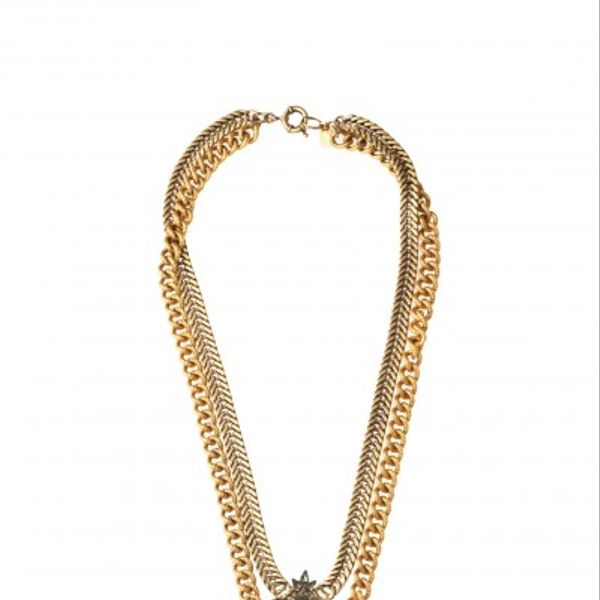 Elizabeth Cole Long Double Pendant Necklace