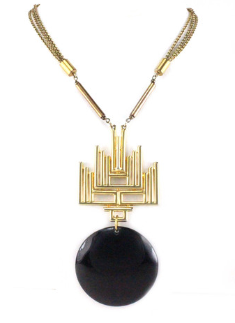 House of Lavande 1970's Castlecliff Pendant Necklace