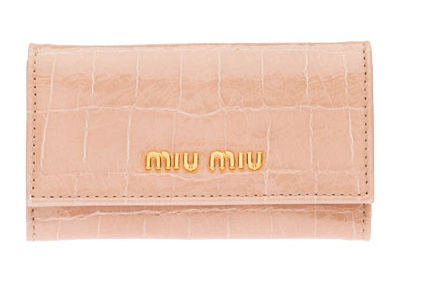 Miu Miu Craquelé Croco-Embossed Calf Leather Key Chain