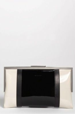 Marni Marni Metal and Calf Leather Clutch
