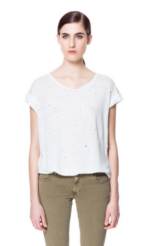 Zara T-Shirt With Holes