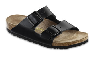 Birkenstock Hunter Black Leather Arizona Sandals