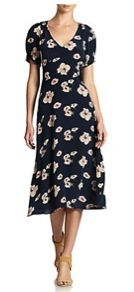 Candela  Minnie Floral-Print Silk Dress