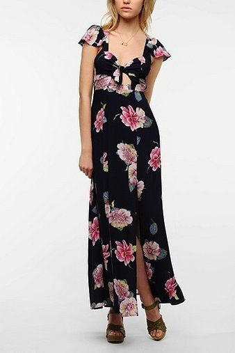 Reformed By The Reformation  Floral & Fauna Maxi Dress