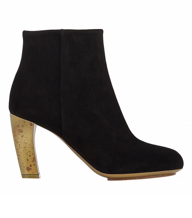 Dries Van Noten ]Suede Side-Zip Ankle Boots