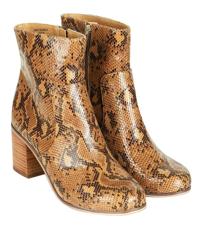 Topshop Bless Snake Ankle Boots