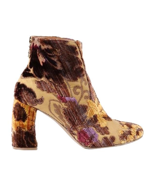 Stella McCartney Mustard Brocade Boots