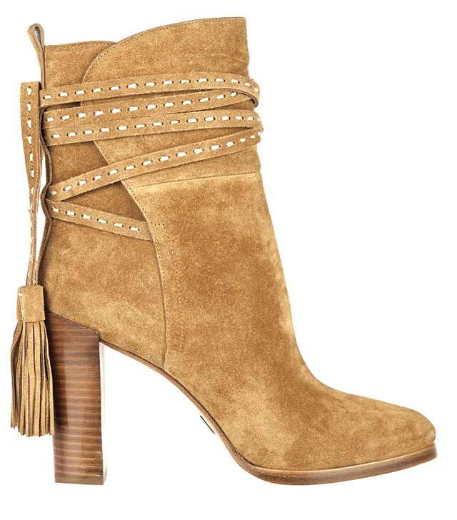 Michael Kors Collection Palmer Tasseled Suede Ankle Boots