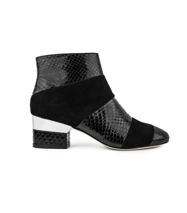 Isa Tapia Hardy Black Snakeskin Ankle Boots