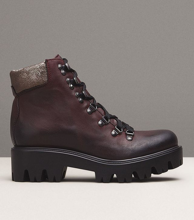 Kenneth Cole Spencer Leather Lace-Up Boots