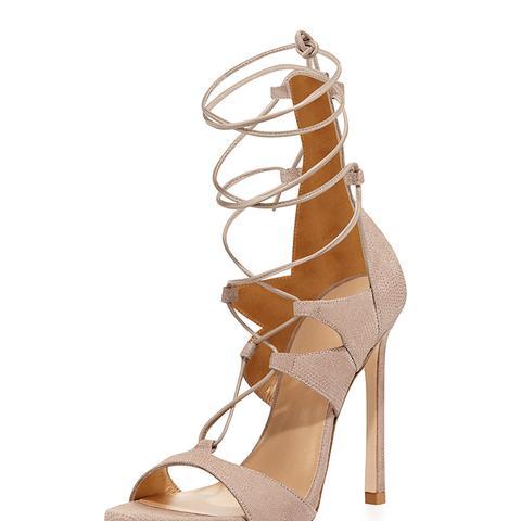 Leg-Wrap Lace-Up Sandals