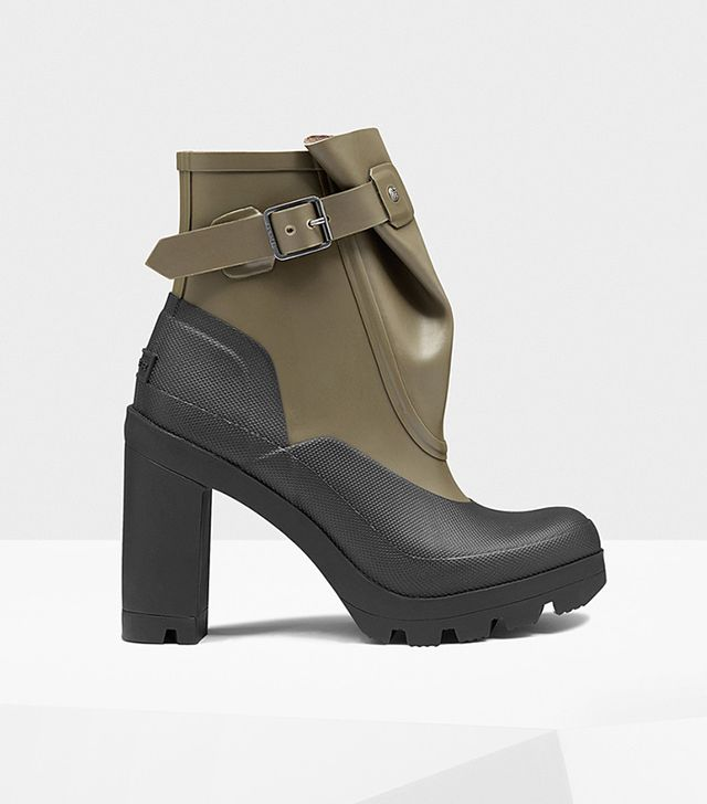 Hunter Original Galosh High Heel Ankle Boots