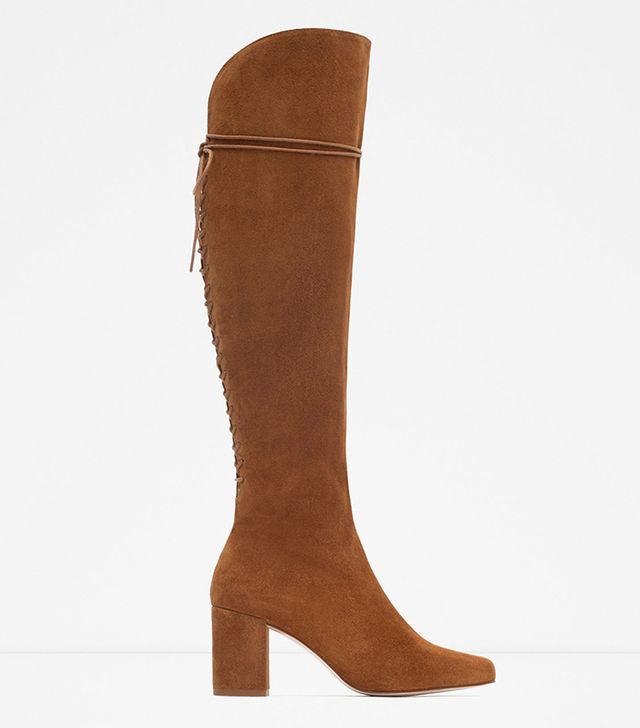 Zara High Heel Leather Boots