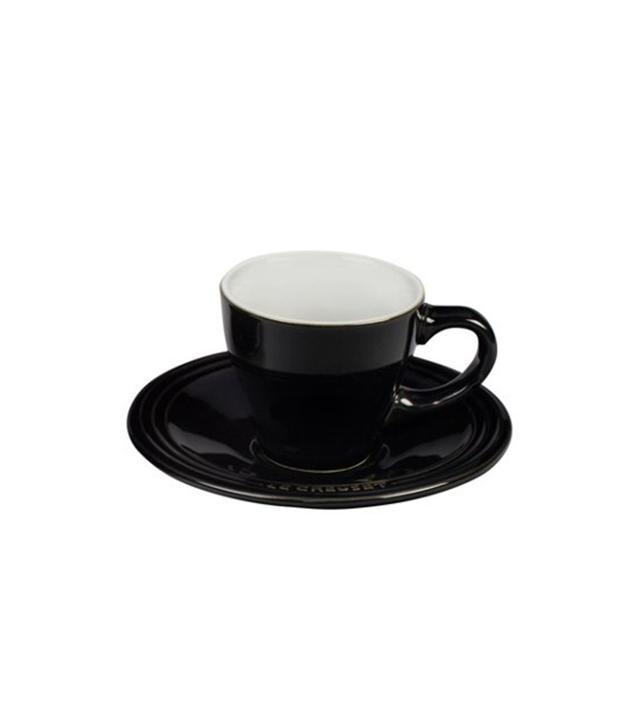 Le Creuset Espresso Cups & Saucers, Black
