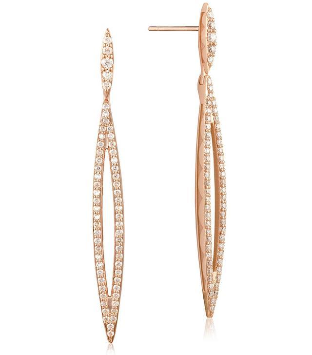 Tacori Ivy Lane Pave Marquise Drop Earrings