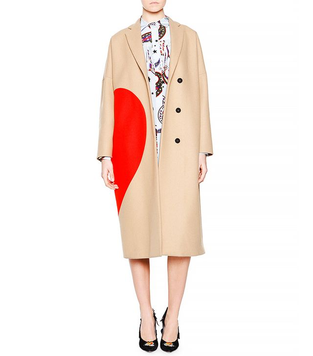 MSGM Heart Wool-Blend Coat