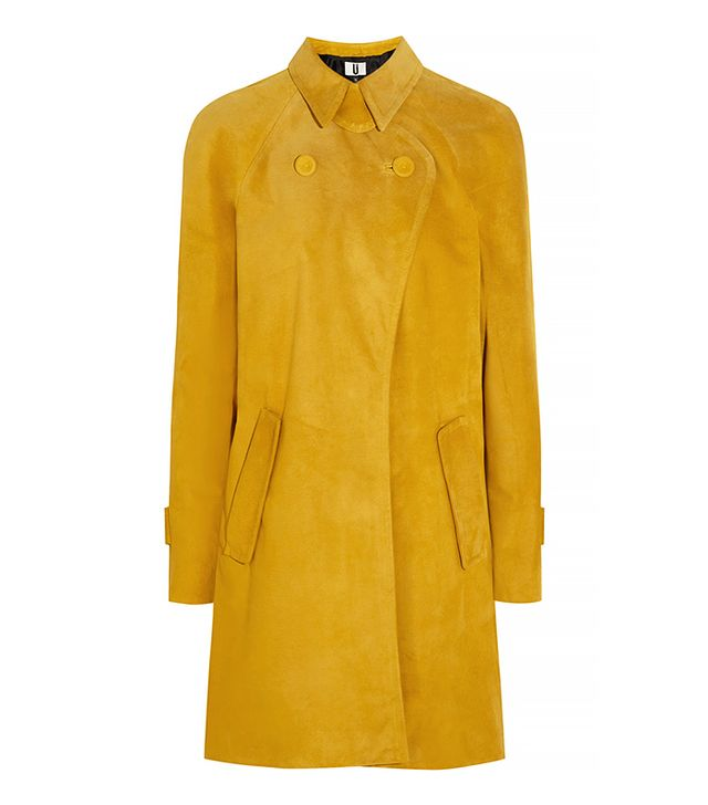 Topshop Unique David Suede Trench Coat