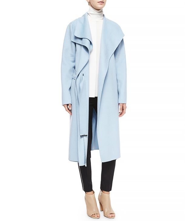 Vince Double-Face Long Draped Coat