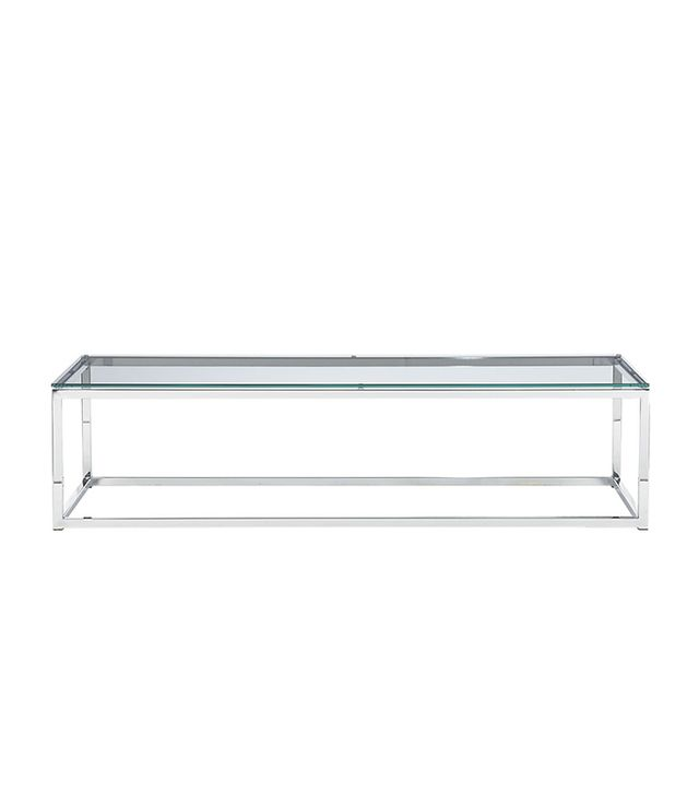 CB2 Smart Glass Top Coffee Table